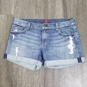 1DAY SALE 7 For All Mankind Distressed Jean Shorts